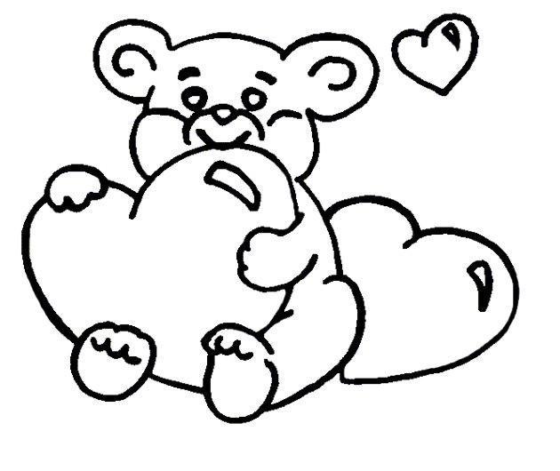 Картинка раскраска мишка